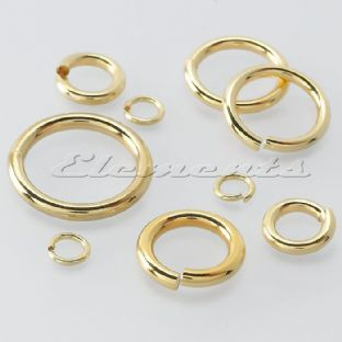 9ct Yellow Gold  8mm Open Jump Ring  Heavy Or Light